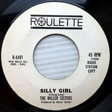 MILLER SISTERS mint minus 45 Baby Your Baby / Silly Girl PROMO Soul ROULETTE E25