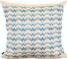 MISSONI HOME IVA 212 YELLOW & BLUE EMBROIDERY 100% COTTON SATEEN PILLOW COVER