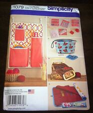 UNCUT SIMPLICITY 1079 KNIT & CROCHET STORAGE BAGS CASES SEWING PATTERN