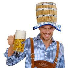 BIERFAß PARTY HUT Oktoberfest Bierhut Biermütze Bier Fass Mütze JGA Kostüm Party