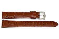 17MM BROWN ALLIGATOR GRAIN GORGEOUS LEATHER WATCH BAND STRAP FITS SWISS ARMY