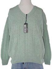 malagrida maglione uomo verde acqua lana angora taglia 5 xl extra large