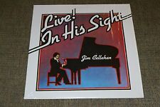 Jim Callahan~Live! In His Sight~Private Label Christian Gospel~Blind Pianist