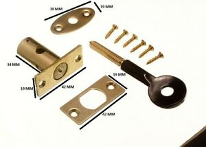 Window Security Rack Bolt & Star Key 32mm EB Pack 20 Locks + 20 Keys