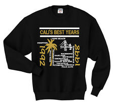 CALI'S BEST YEARS  (Fruit of Loom Brand hoodie, black, material heat press vinyl