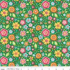 My Sunshine Main Fabric - Green - Riley Blake Fabric - Half yard