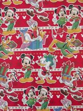 X/LARGE 1M SHEET MICKEY MOUSE AND FRIENDS CHRISTMAS WRAPPING PAPER -RED