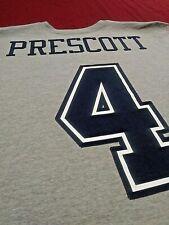 Nike Dallas Cowboys DAK Prescott Short Sleeve Men's Shirt Gray Size Large