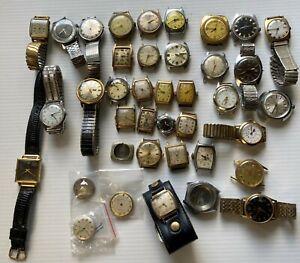 Vintage Watch Lot - Elgin, Waltham, Benrus, Bulova, Ingersol, Westclox
