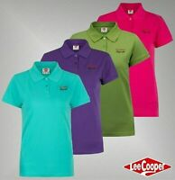 Ladies Lee Cooper Cotton Short Sleeves Top Classic Polo Shirt Sizes 8-16
