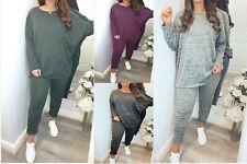 Casual Loungewear Track Suit Set High Low Top Bottoms Sweatshirt Jog 8-22 2 Pcs