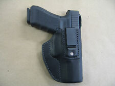Walther P99 9mm, .40 IWB Leather In The Waistband Concealed Carry Holster Black