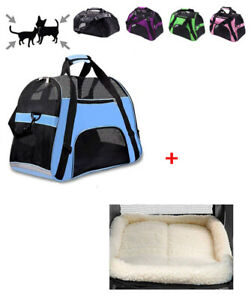 Pet Carrier Soft Sided Cat Dog Comfort Travel Tote Bag  Secure Airline Approved