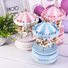 Romantic Solid Carousel Music Box Toy Clockwork Musical Birthday Gifts Music Box