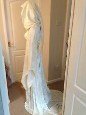 STUNNING Ivory Elven Hooded fancy dress, LOTR, Halloween, Wedding, 6, 8, 10