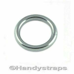 Round Ring Stainless Steel Mooring Rings   6mm x 35mm