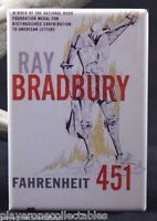 "Fahrenheit 451 Book Cover 2"" X 3"" Fridge / Locker Magnet. Ray Bradbury"