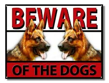 ALSATIAN BEWARE OF THE DOGS METAL SIGN,SECURITY,WARNING,GUARD DOG SIGN.A3