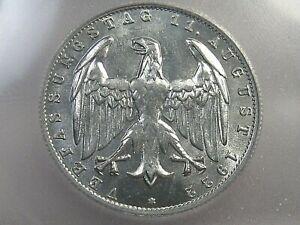 BU GEM White 1922-G 3 Mark Weimar Germany ICG MS65 KM#29.  #5