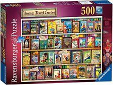 New! Ravensburger Vintage Travel Guides 500 piece nostalgic jigsaw puzzle