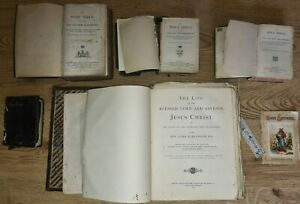 Antique Bible Old and New Testaments Rare The Life & Saviour Jesus Christ 1872