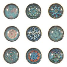 Snap Button Charms Ginger Snaps Buttons Chunk Charm Mandala Blue 18mm