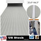 Eva Foam Boat Flooring Sheet Marine Nonskid Decking Carpet 35.4w Gray White