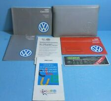 90 1990 VW Cabriolet Convertible owners manual ORIGINAL