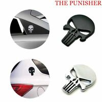 3D Metal Emblem Badge Decal Sticker The Punisher Skull Car Decoration Waterproof