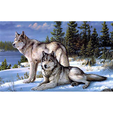 Wolf 5D Full Drill Diamond Painting DIY Cross Stitch Embroidery Craft Home Decor