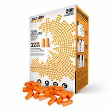 DuraDrive Disposable Pre-Shaped Foam Earplugs, Orange, 200 Pairs/Box