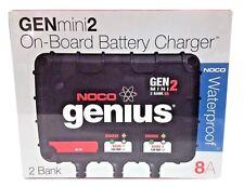 NOCO GENM2 Gen Mini 2 2-Bank 8 Amp On-Board Waterproof Battery Charger Boat RV