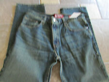 NEW ARIZONA SLIM STRAIGHT JEANS MENS 42X32 SLIM FIT DARK TINT  FREE SHIP!