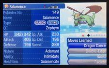Pokemon Sun Moon Custom Shiny Salamence 6IV with Mega Stone Guide Battle Ready
