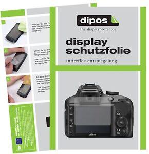 6x Schutzfolie für Nikon 3500 matt Displayschutzfolie Folie Display Schutz dipos
