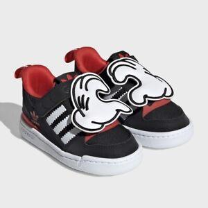 Adidas x Disney Forum Low 360 Mickey Mouse Infant Toddler Boy Sneaker Black Shoe