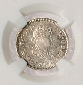 Guatemala 1820 1/2 Real NGC MS65 Ferdinand VII, Sparkling Devices !!
