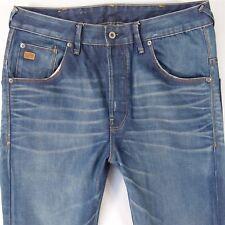 Mens G-Star GRAYSTON STRAIGHT Low Crotch Blue Jeans W32 L34