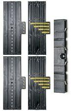 "4pc Aurora Slot Car 9"" STRAIGHT 4-Screw TERMINAL TRACK Lock & Joiner 1520 Unused"