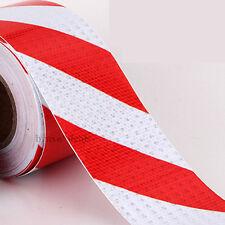 Reflektorfolie Reflektorband Selbstklebend Warnaufkleber Rot/Weiß 10M