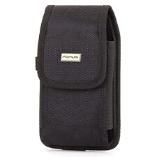 Rugged Case Belt Clip Holster Canvas Cover Pouch Carry Protective for Phones