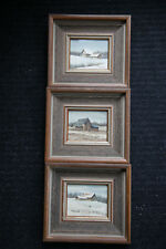 "3 Original Water Colours by Canadian Artist ""J.M. Robinson"" - Oakville Ontario"