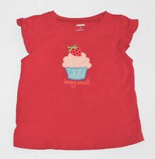 """Gymboree """"Burst of Spring"""" Cap Sleeve Strawberry Cupcake Berry Sweet Red Top, 2T"""