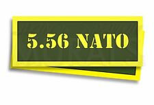 """5.56 NATO Ammo Can Labels for Ammunition Case 3"""" x 1"""" stickers decals 2 PACK -AG"""