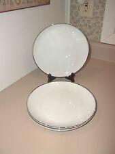 Harmony House Moderne Salad Plates (4) White Platinum