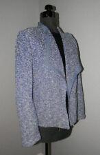 TALBOTS ~ BLUE & WHITE Boucle Knit Blazer Suit JACKET Sz M NWT