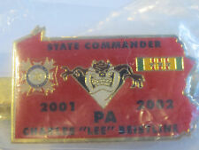 Red Pennsylvania Tie Clip Clasp Vfw Veteran Of Foreign Wars