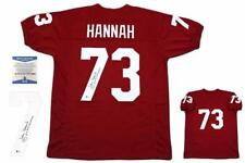 John Hannah Autographed SIGNED Jersey - Beckett Authentic - Crimson