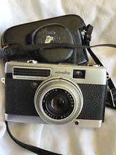 Minolta Minoltina-P 35mm Film Camera Rokkor 38mm F2.8 Lens As Is W/ Case