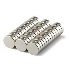 30 Pieces LOT of 10mm x 2mm Round Strong Rare Earth Neodymium Magnets N52